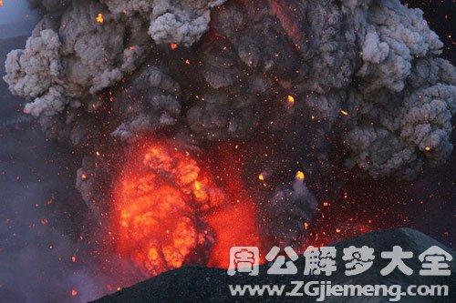 火山爆发逃跑成功