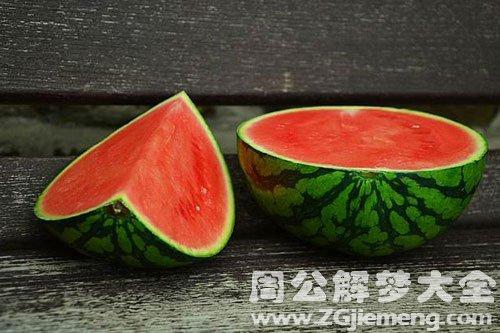 吃西瓜很甜