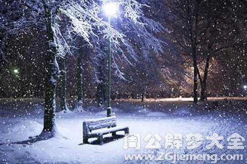 梦见漂亮的雪景