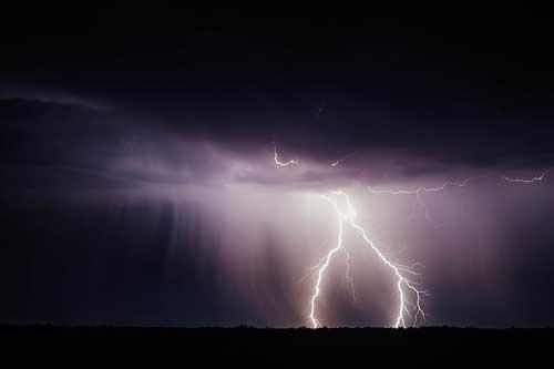 電閃雷鳴狂風暴雨