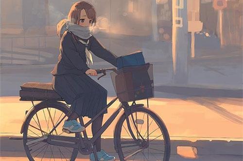 女人夢見自己騎自行車